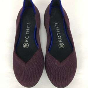 Rothy's Classic Flat Ballet Round Toe Shoe Wine